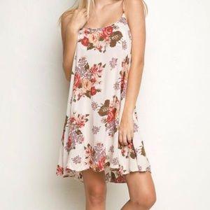 Brandy Melville Gaby Peony Floral Dress One Size